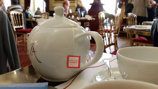 Cape and Cape Rooibos tea served at the Jacquemart André Museum