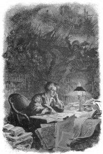Alexandre Dumas in his library, par Maurice Leloir