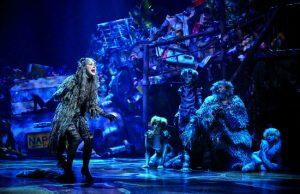 "Chimène Badi in the role of ""Grizabella,"" Cats at the Théâtre Mogador"