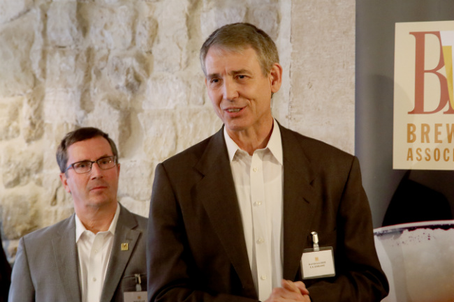 David Salmon, Minister Counselor for Agricultural Affairs at the US Embassy, and Bob Pease, President and CEO of the Brewers Association