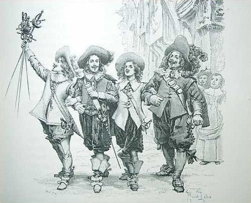 A Maurice Leloir illustration in the Appleton edition of The Three Musketeers