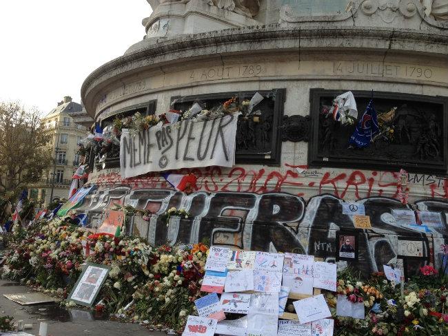 La place de la République in Paris