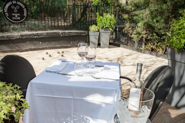 The secret garden at La Gare