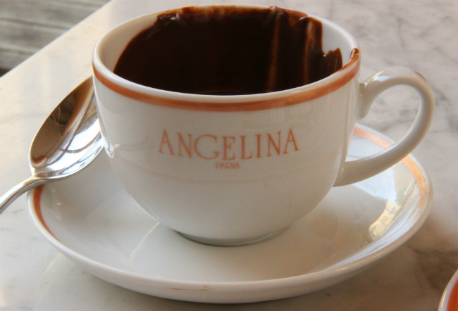 Angelina's famous hot chocolate