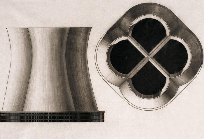 Claude Parent's design for a nuclear power plant