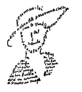 Guillaume Apollinaire, Calligramme poem for Lou