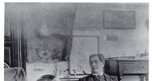 Apollinaire in Picasso's Studio