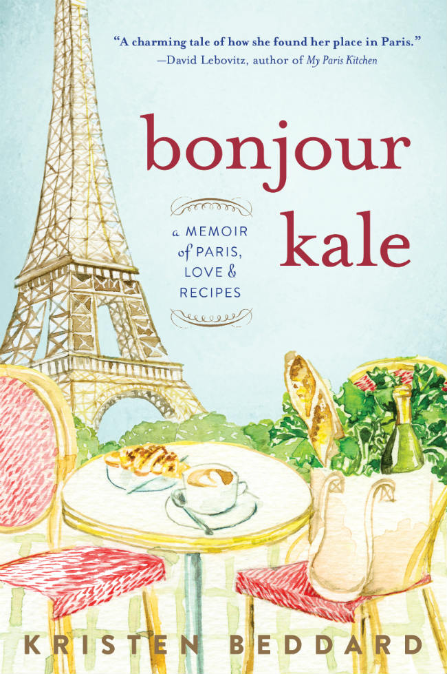 "Book cover for ""Bonjour Kale"" by Kristen Beddard"