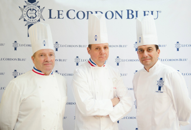 Chefs Briffard, Groult and Danniel at Le Cordon Bleu