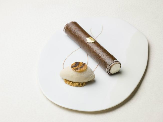"""Maison Rostang's famous """"Havana cigar"""" dessert"""