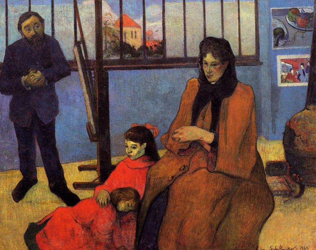 Paul Gauguin, The Schuffenecker Family in the Studio, 1889, oil on canvas, 91.5 x 110 cm, Paris, Musée d'Orsay © Musée d'Orsay, Dist. RMN-Grand Palais / Patrice Schmidt.