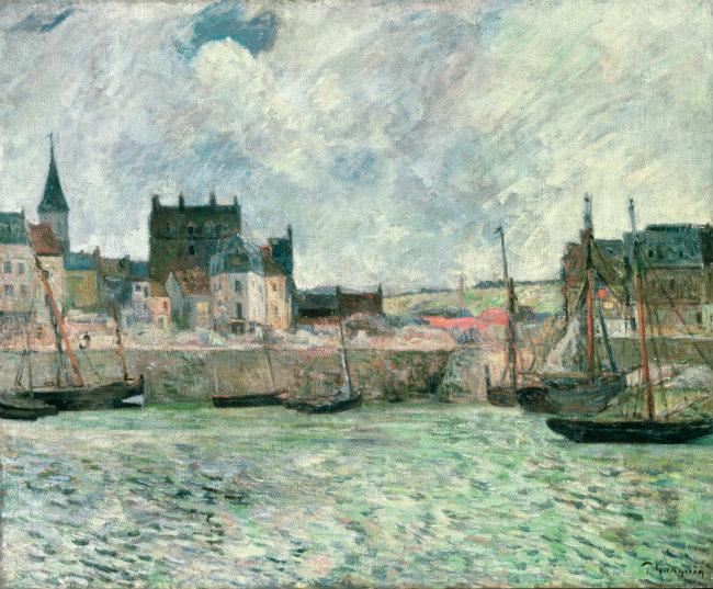 Gauguin, Le Port de Dieppe (1885)