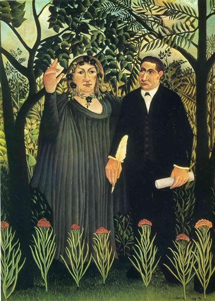 Henri Rousseau, The Muse Inspiring the Poet