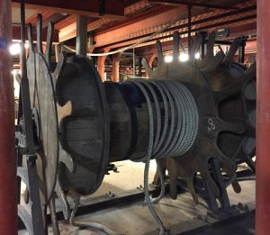 Machinery underneath the Opera for set changes
