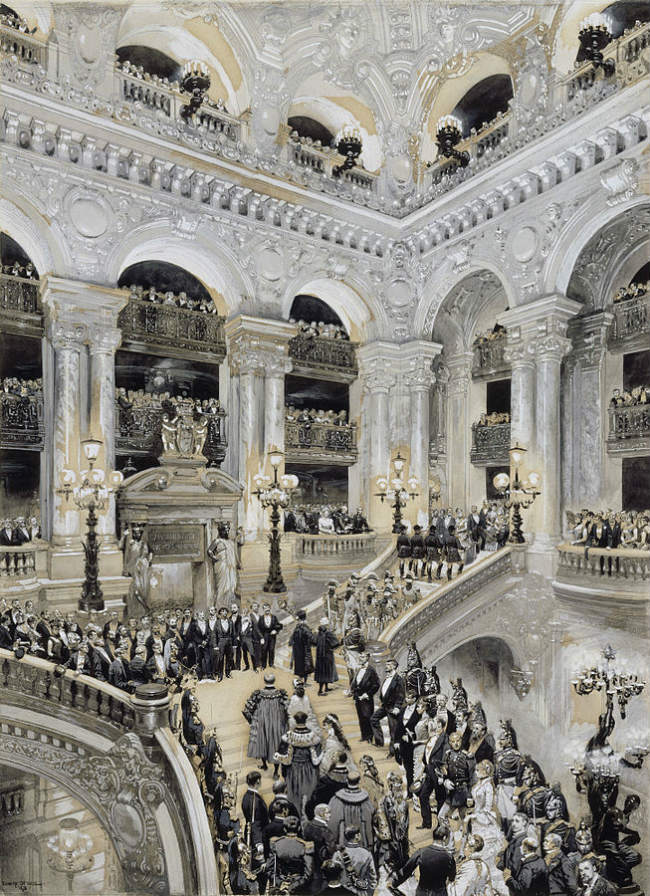 Inauguration of the Paris Opera in 1875
