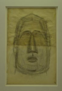 Pablo Picasso, Head (Portrait of Guillaume Apollinaire in two parts