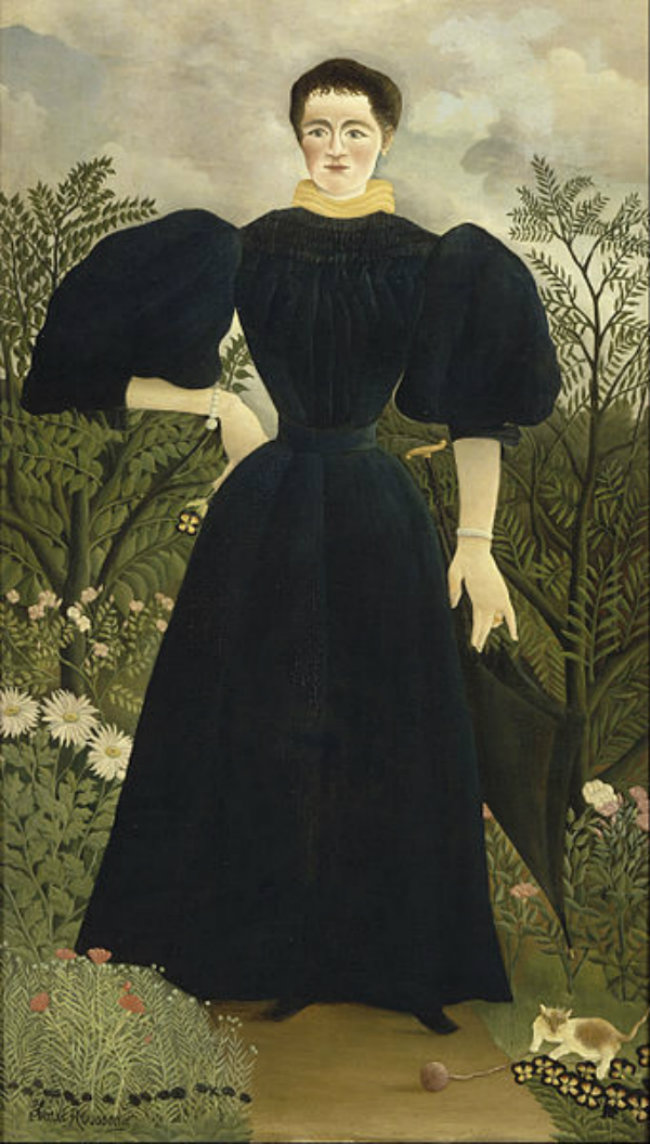 Henri Rousseau, called le Douanier, Portrait of Madame M., c. 1890, oil on canvas, 198 x 114.5 cm Paris, musée d'Orsay, © RMN-Grand Palais (musée d'Orsay) / Hervé Lewandowski.