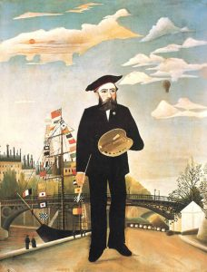 "Henri Rousseau, called le Douanier, Self-Portrait (""Moi-Même""), 1890, oil on canvas, 1890, 136 x 113 cm, National Gallery in Prague."