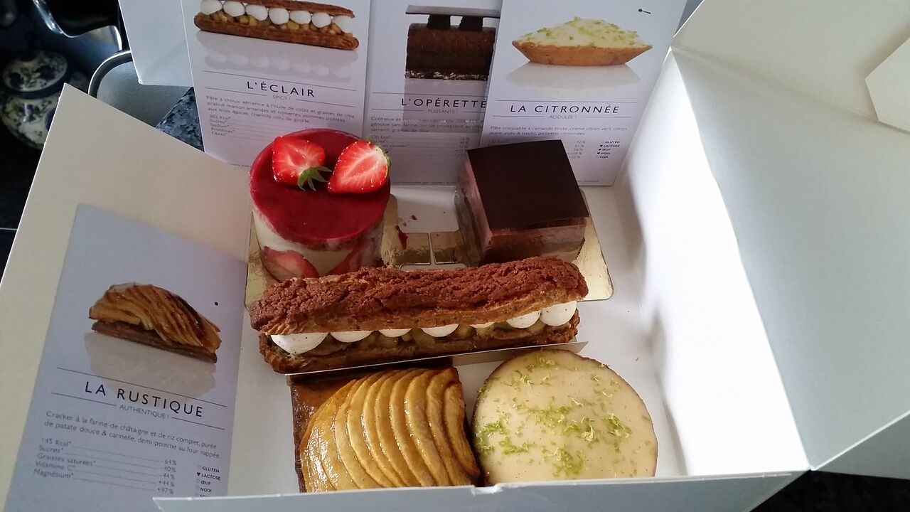 Gluten-free pastries at Foucade