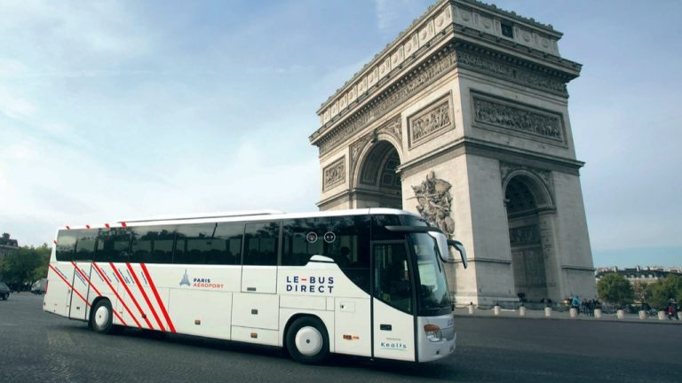 le bus direct new service from paris charles de gaulle airport. Black Bedroom Furniture Sets. Home Design Ideas