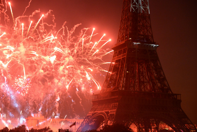 Bastille Day fireworks, Eiffel Tower