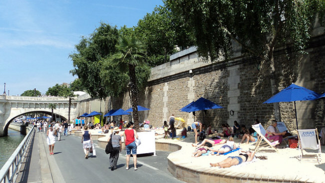 Paris Plage by ErasmusOfParis/Flickr