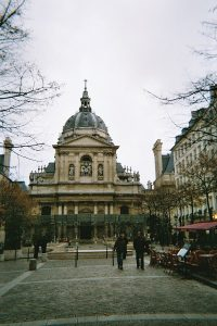 Public square of the Sorbonne, in the Latin Quarter of Paris / Public Domain