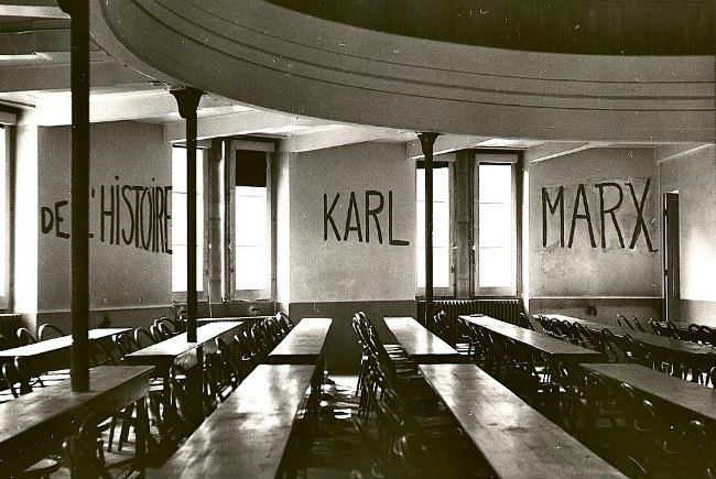 Graffito in University of Lyon classroom during student revolt of 1968 / Public Domain