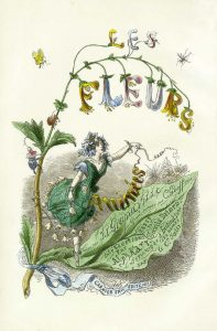 "Title page from ""Fleurs Animées"" by the french artist Grandville (1803-1847) / Public Domain"