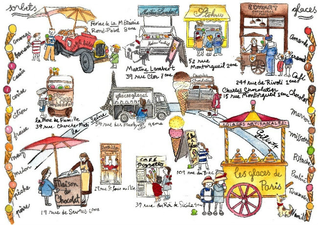 Carol Gillott's ice cream map