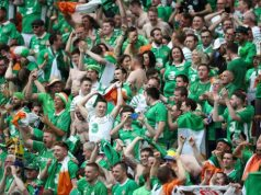 Irish fans at the Euro 2016