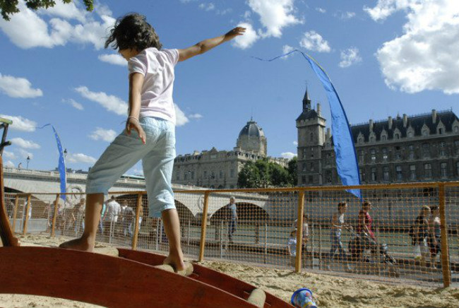 Paris Plages, courtesy of the city of Paris