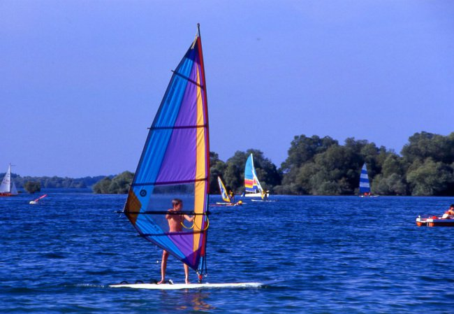 windsurfing in Champagne
