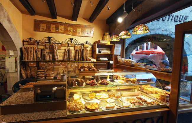 French bakery in Annecy, France by JohnPickenPhoto/Flickr