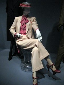 A lady's trouser suit by Yves Saint Laurent. / Wikipedia / Creative Commons / David Hilowitz/Flickr