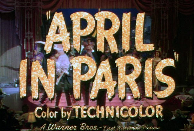April in Paris, the 1952 musical.