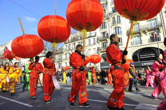 Chinese New Year parade in the 13th arrondissement of Paris