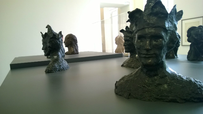 The installation for The Jester in Picasso Sculpture at the Musée Picasso, photographed by Beth Gersh-Nešić