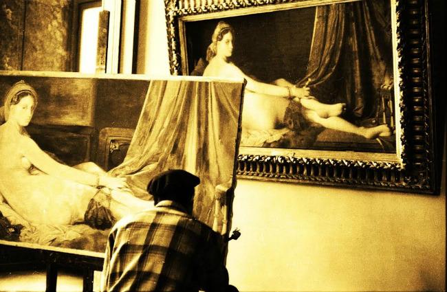 Louvre Copyist, Paris (Photograph by Maurice Sapiro, 1956)