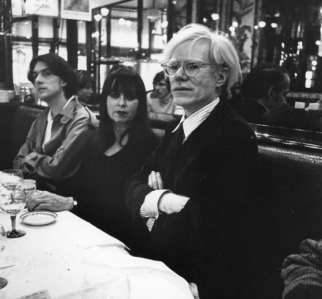 Andy warhol, cafe de flore