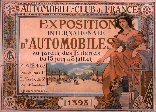 Poster for the exposition internationale d'automobiles de 1898