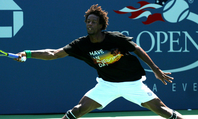 Gaël Monfils at the US Open in 2011