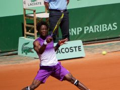 Gaël Monfils at Roland-Garros in 2011