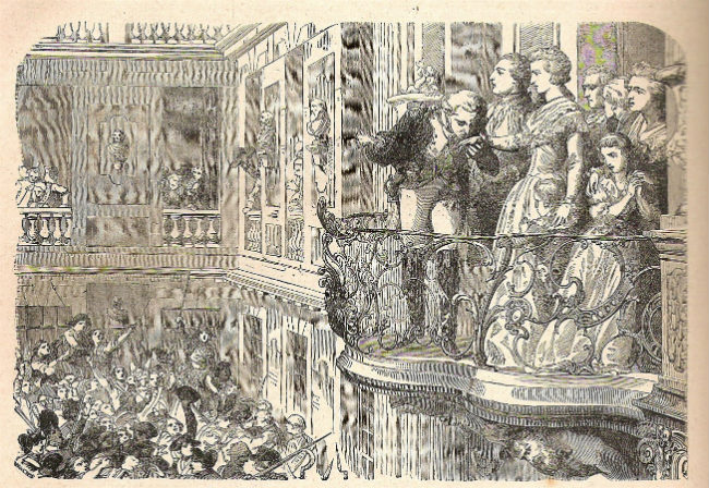 Lafayette at the balcony of Versailles with Marie Antoinette