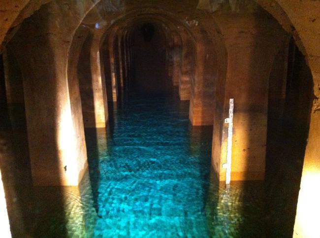 Inside the Montsouris reservoir