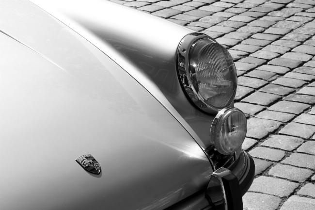 Detail of a Porsche 911 car
