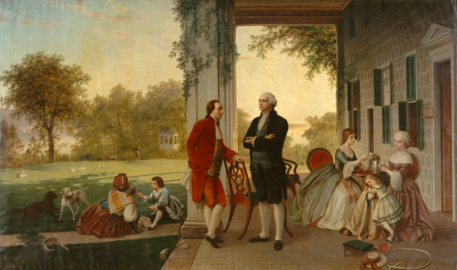 Lafayette and Washington at Mt. Vernon, 1784