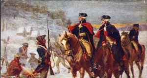 Lafayette (right) and Washington at Valley Forge by John Ward Dunsmore