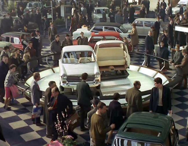 """A still from """"Trafic,"""" Jacques Tati's 1971 film"""