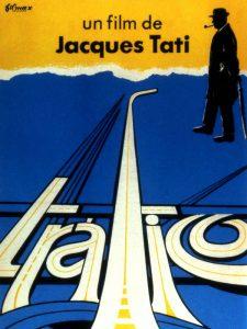 """film poster for Jacques Tati's """"Trafic"""""""